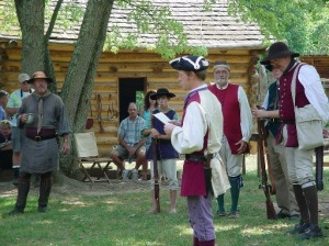 Jason Davis reads the newly arrived Declaration of Independence50%